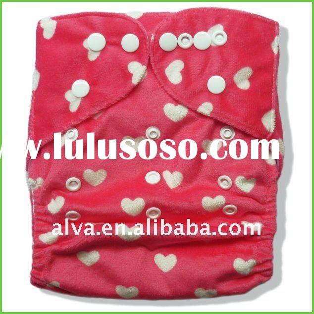 Resuable Cloth Diaper With Double Row of Snaps, All in One Size