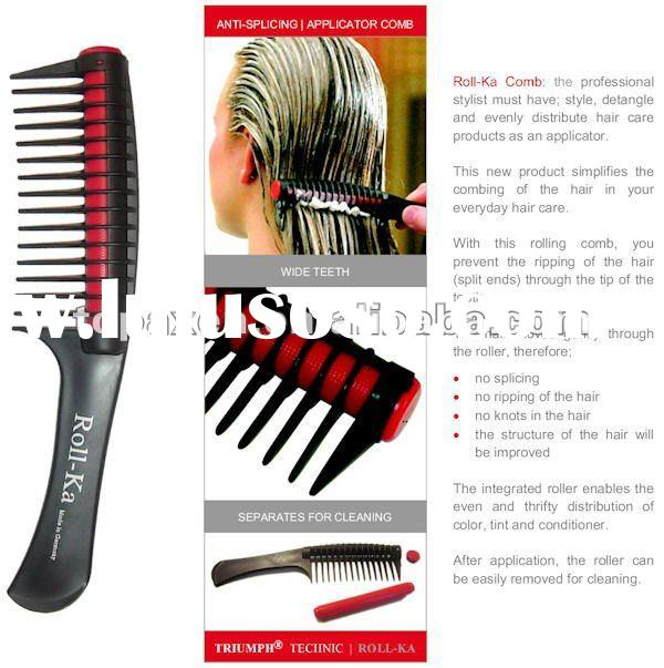 Roll-Ka Comb Anti Splicing Hair Detangling Dye Color Applicator Roller Comb