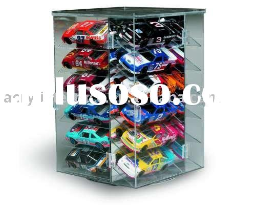 Rotating Base Acrylic Car Turntable Display Case
