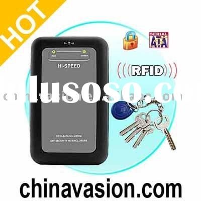 Secure RFID 2.5 Inch SATA HDD Enclosure / HDD Media Player