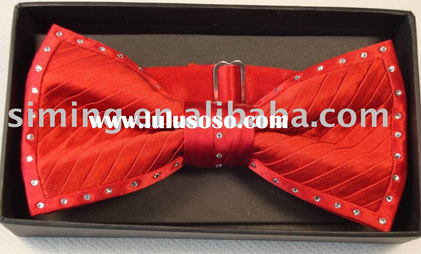 Silk Fashion Bow Tie With Crystals