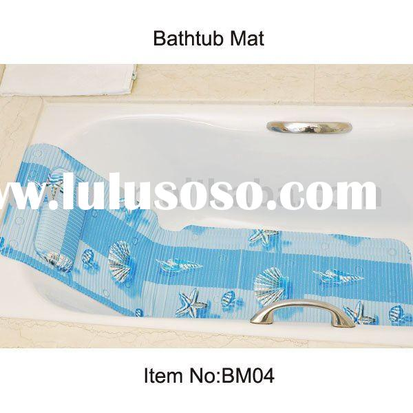 Soft Bathtub Mat, PVC Foam Non-slip Bath mat