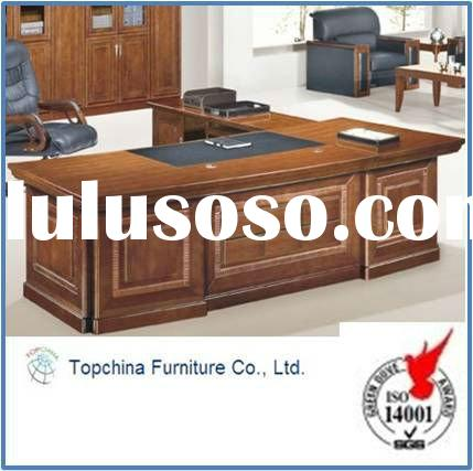Solid wood office furniture executive desk