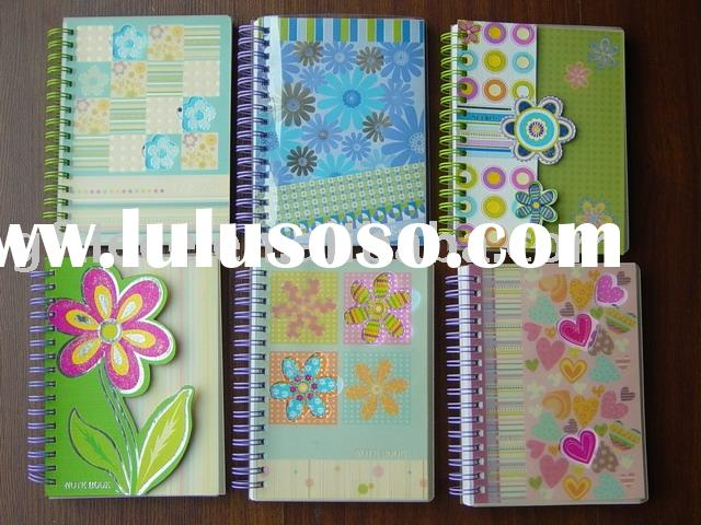 Spiral notebook gift/ hand made craft decoration sticker / printed art paper / foil /hot-stamping gl