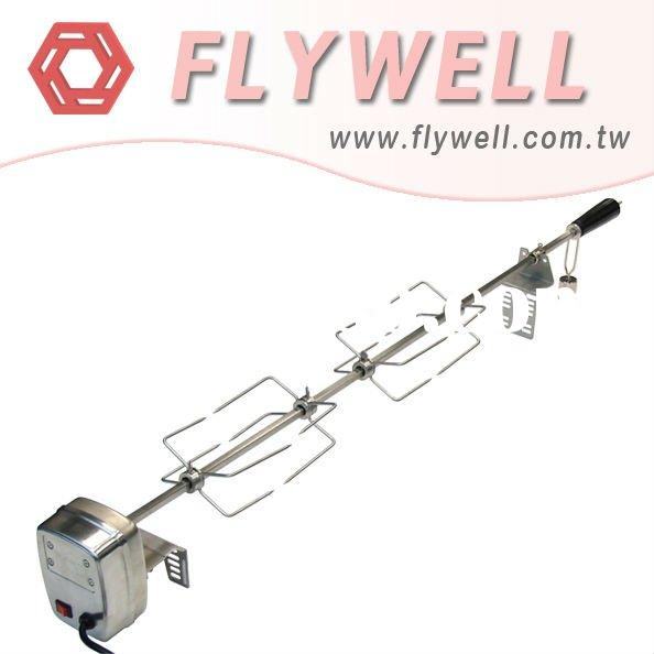 Stainless Steel Rotisserie Kits - Barbecue BBQ Rotisserie Kits motor basket spit grills grilling acc
