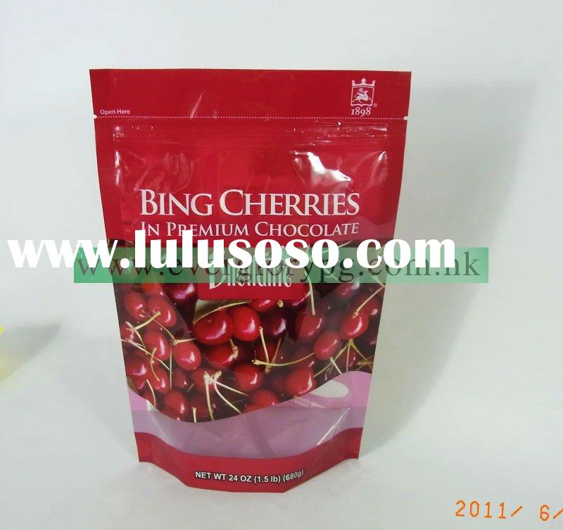 Stand Up Fruit Packaging Bag (with tear strip and resealale zip)
