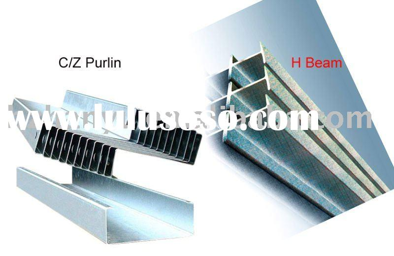 Steel beam and purlin ( C/Z purlin, H/I beam)