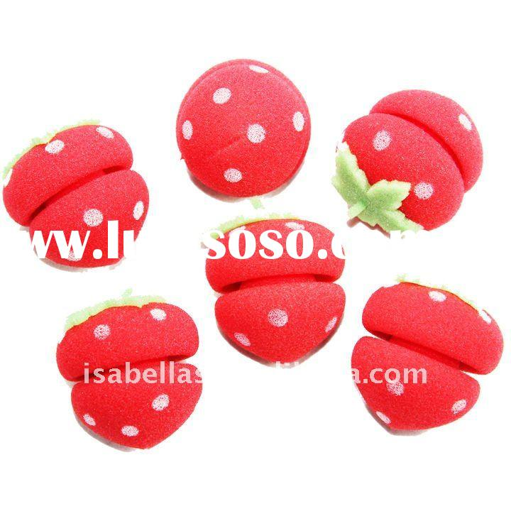 Strawberry Rollers soft Sponge Hair Care Curlers