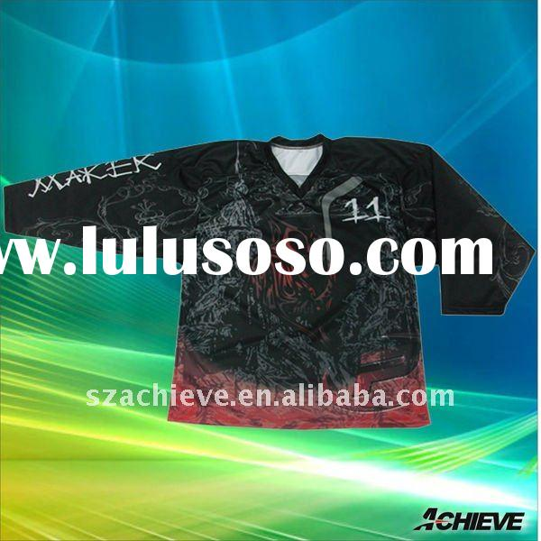 Team custom ice hockey jerseys,fully sublimation printing