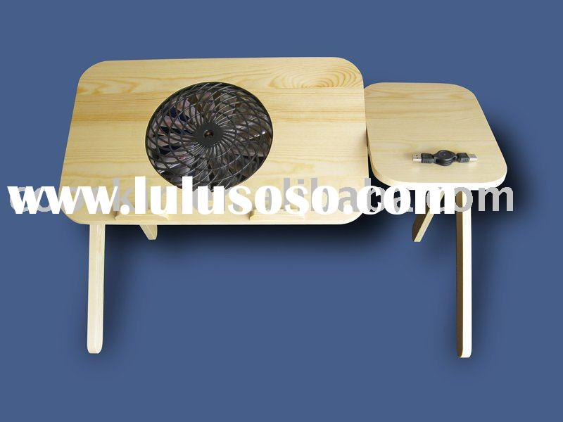 The cooling fan laptop desk with mouse pad