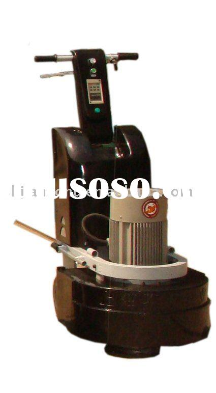 Three-head concrete floor grinder and polisher
