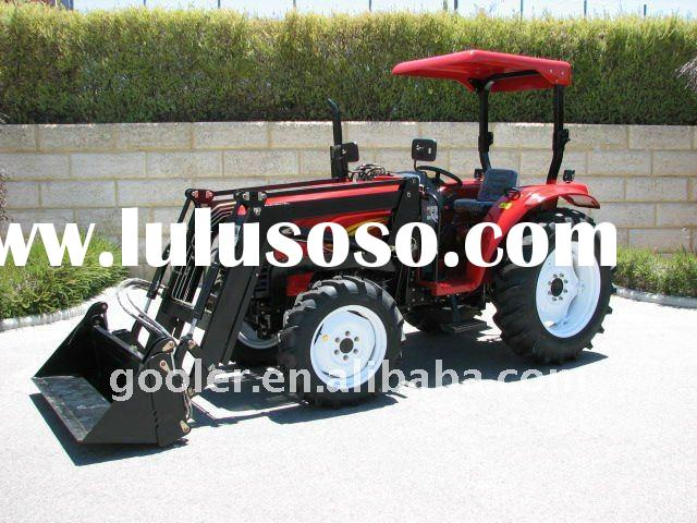 Tractor with FEL, garden tractor 40HP, 4x4, DQ404 with Front end loader, slasher mower, Backhoe atta