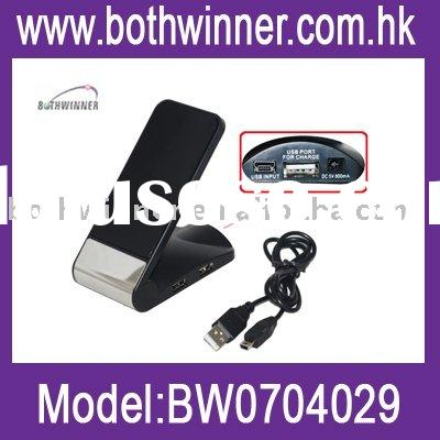 USB mobile phone holder with HUB