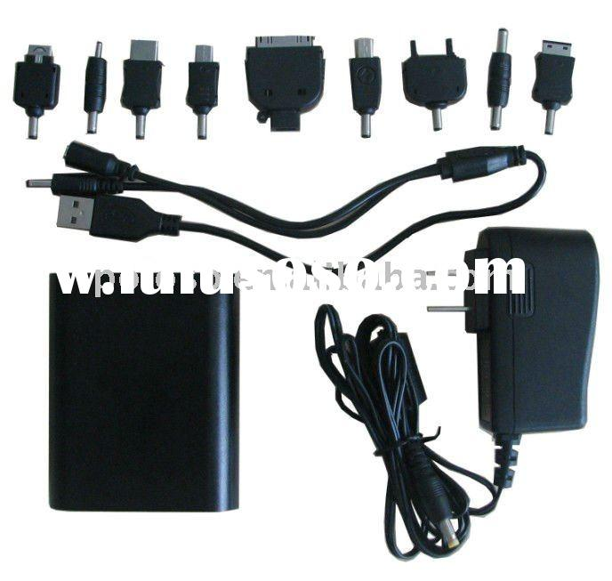 Universal adaptor/ charger for mp3/mp4 player,psp,iphone ipad ipod with 5200mAh and conversion joint