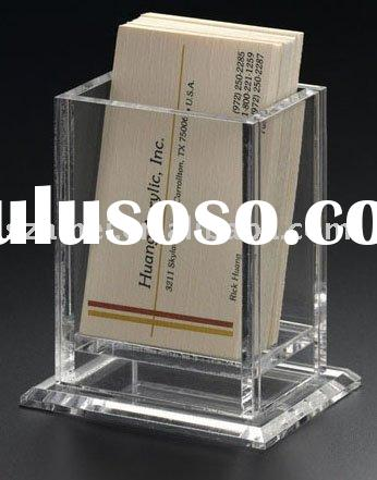 Upright Business Card Holder,Acrylic Pen Holder
