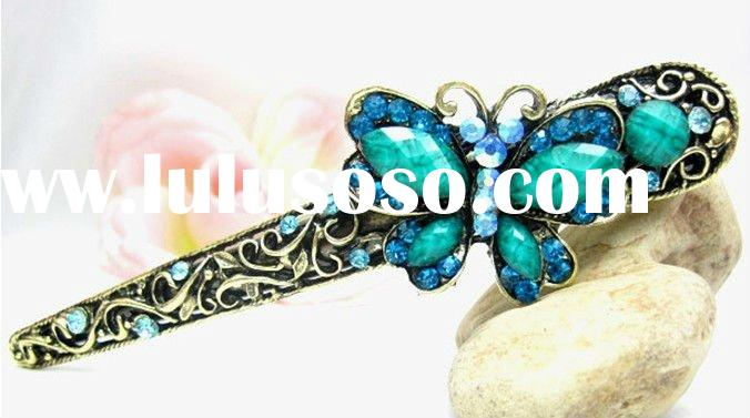 Vintage lapis hair jewelry for women, hair accessories for wedding, supplier