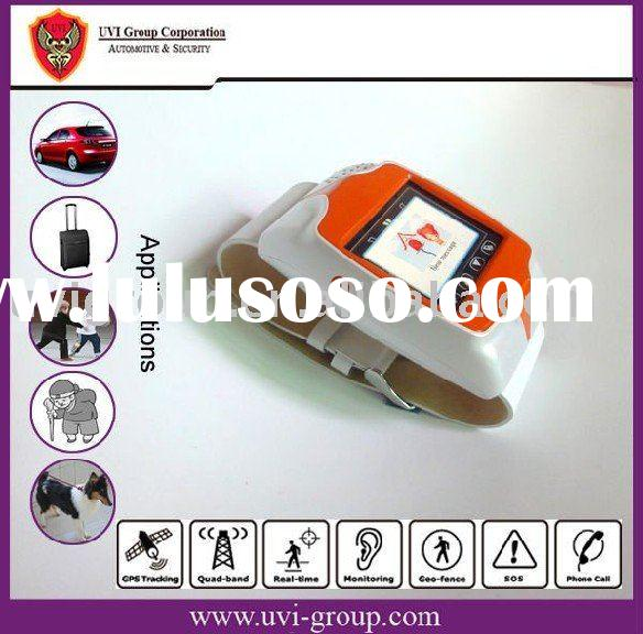 Waterproof Cell Phone Watch and Real-time Tracking System,watch mobile phone, Personal GPS tracker .