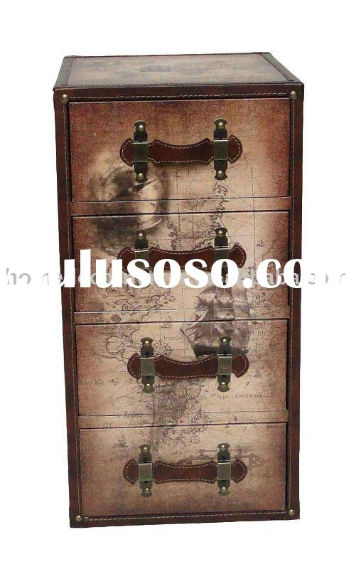 Wooden Chest of 4 Drawers