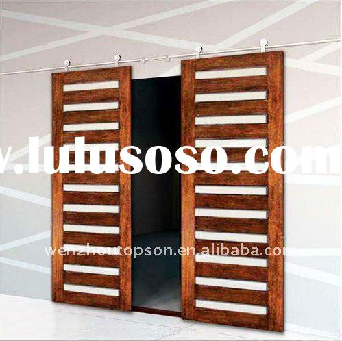 Wooden double sliding door for interior sliding door