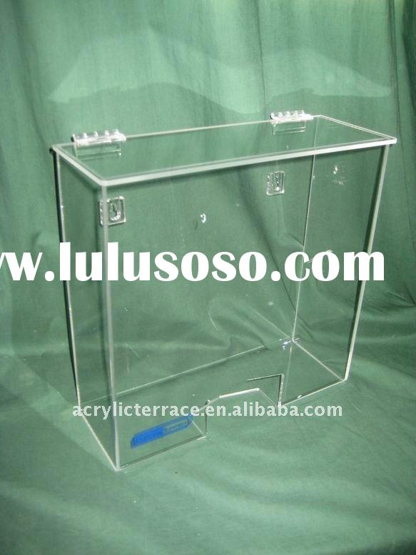 acrylic dispenser box for disposable hairnet or gloves