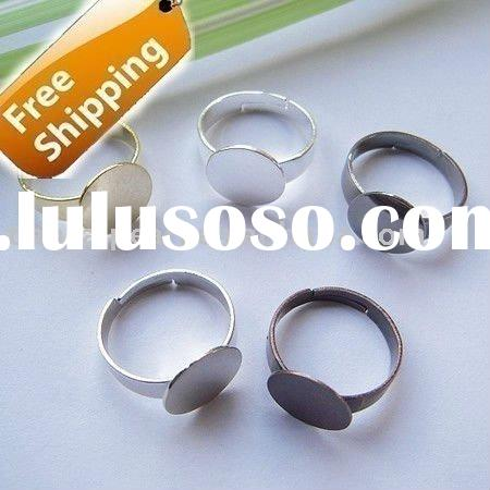 adjustable 18mm ring base blank with 12mm pad Jewelry Findings Accessories Fittings Components