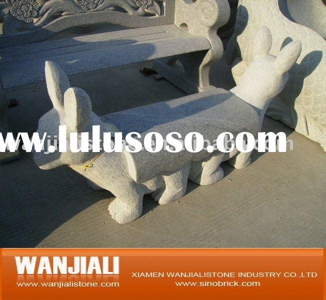 animal carving stone desk