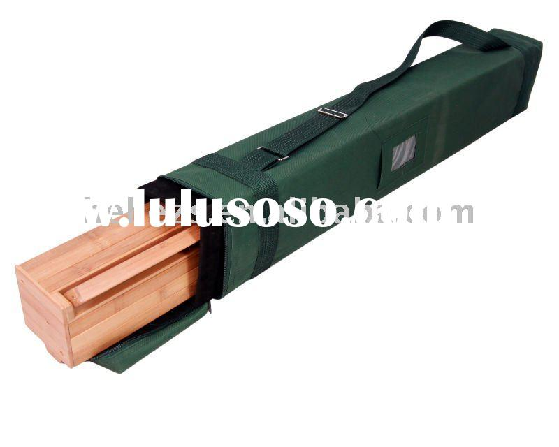 bamboo advertising equipment rollup roll-up pull up banner stand display system