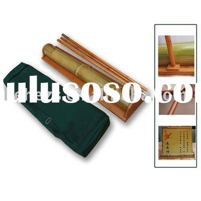bamboo roll-up display retractable banner retractor stand rollup roll up screen