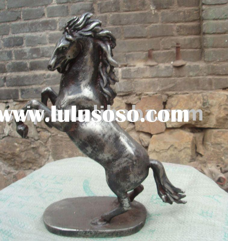 cast iron horse (garden decoration, garden ware)