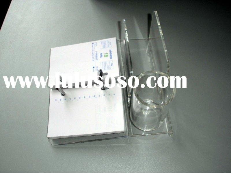 clear acrylic calendar holder with pen and card holder