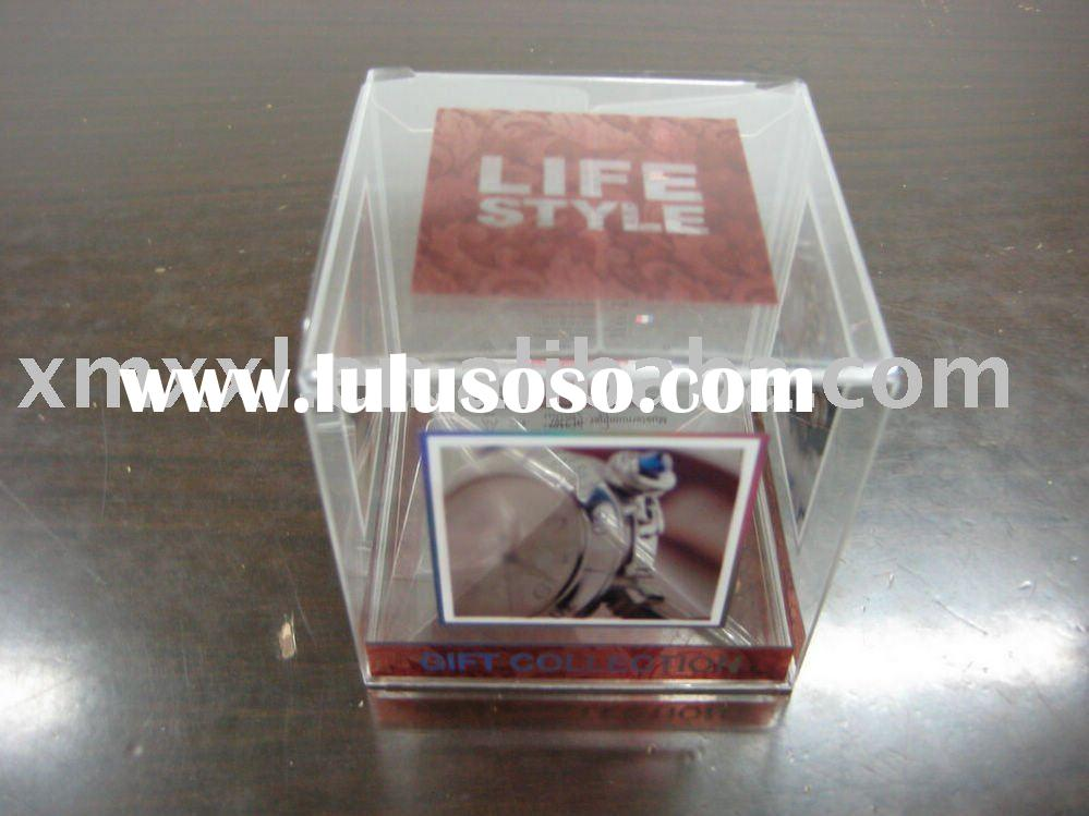clear plastic watch box with custom printing