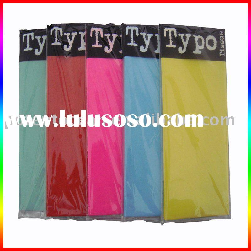 colored wrapping tissue paper