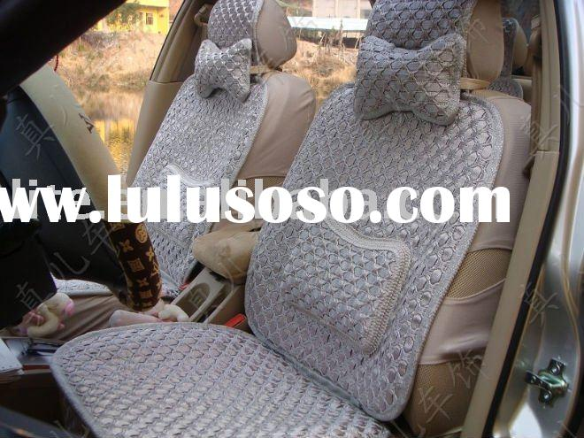cooling summer ice silk car seat cushions with headrest auto seat cushion