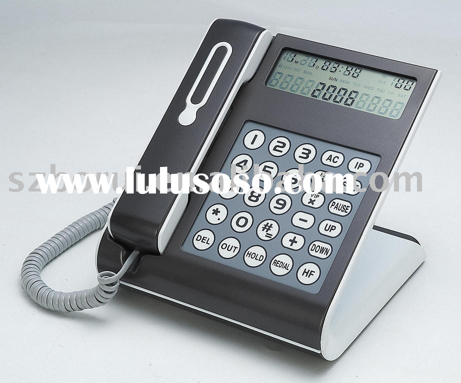 corded telephone, CID telephone, touch panel telephone