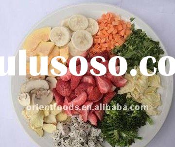 freeze dried fruit &vegetable