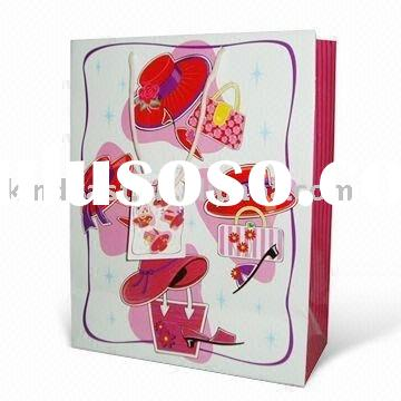 gift bags paper/Brand Paper Bag with 4 Colors Offset Printing, Made of Art Paper(KV-239)