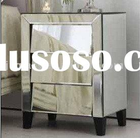 glass mirrored nightstand,bedside cabinet,drawers of chest Tina