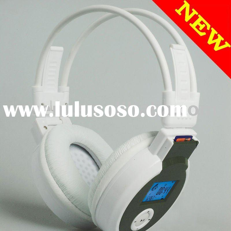 headphone MP3 player with SD Card slot