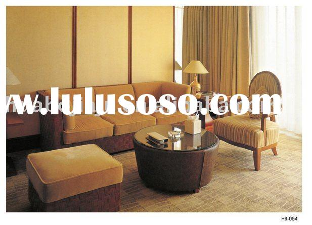 hotel living room sofa(Malaysia rubber wood upholstery fabric HB-054)