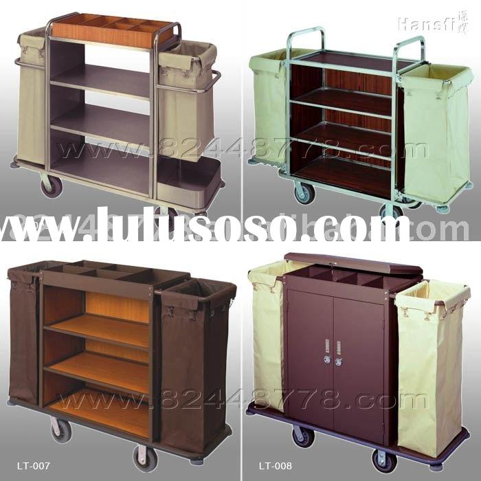 hotel maid cart, housekeeping cart, laundry cart