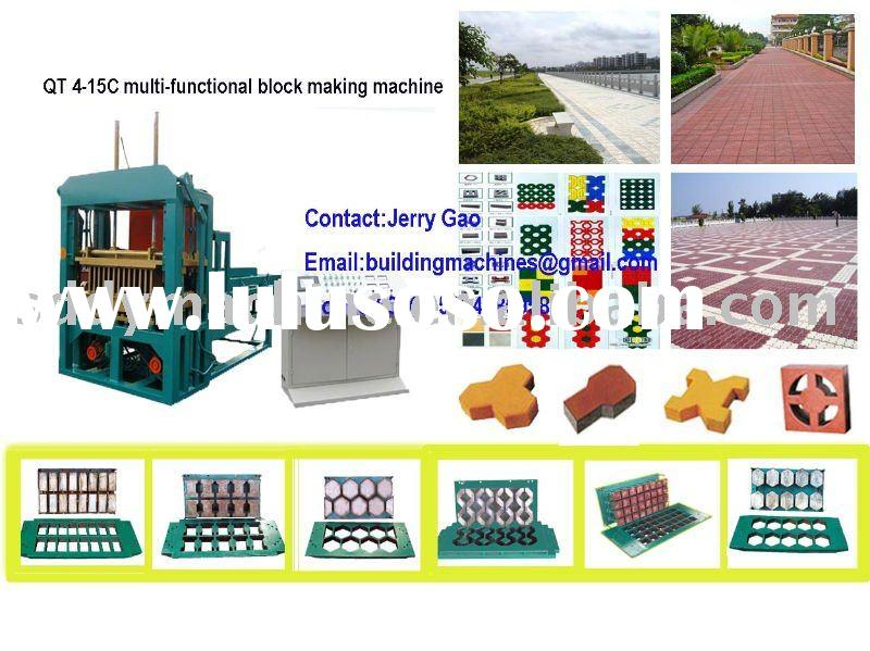 hydroform brick making machine,automatic flyash block shaping machine(QT4-15C),block making machine