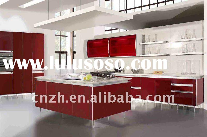 kitchen cupboard(acrylic and uv high glossy panel for kitchen cabinet door)