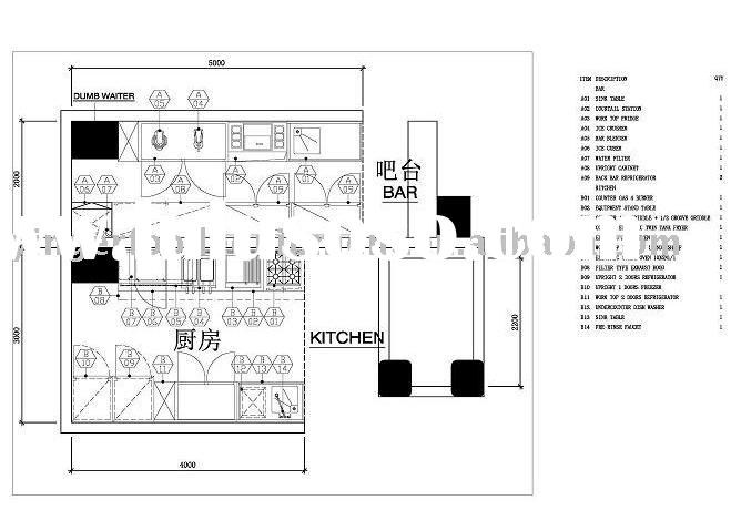 Restaurant Kitchen Layout Dimensions modern commercial restaurant equipment | interior home design