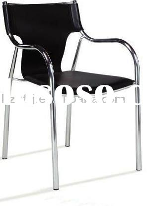 leather metal office chair