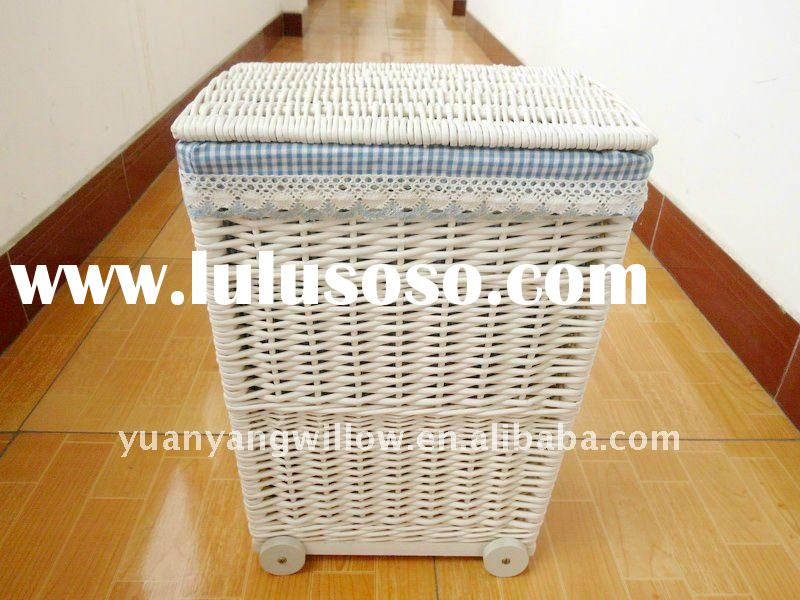 linen laundry basket with wheels