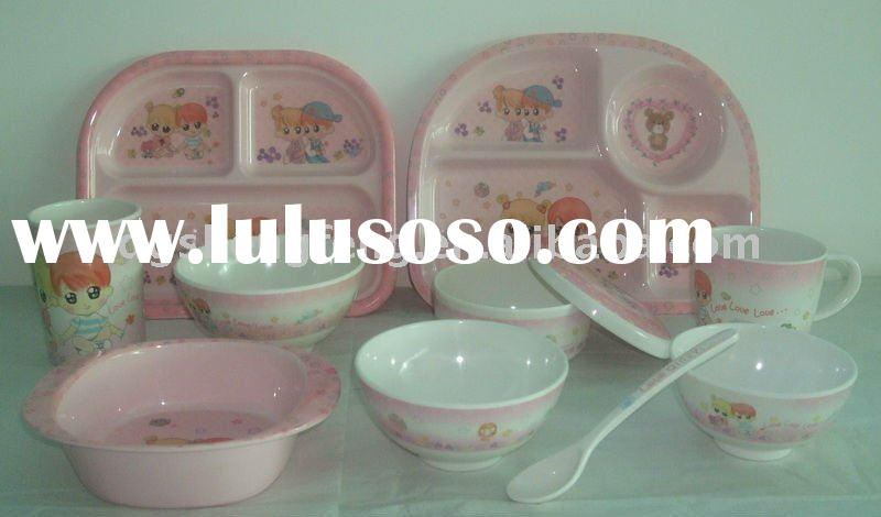 melamine kids tableware set