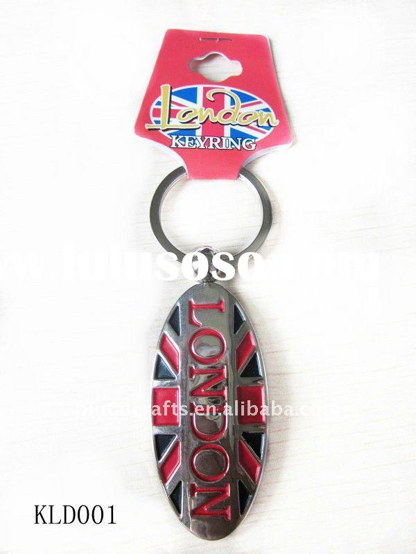 metal fashion key chains/2012 London Olympic souvenir keyrings/Promotional keychains/zinc alloy key