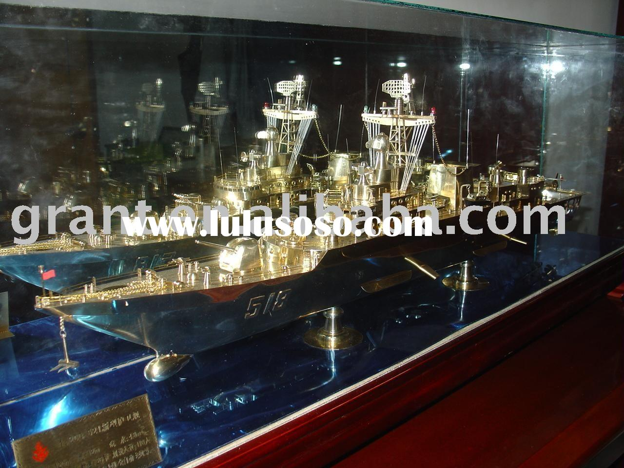 military model/scale ship model/metal model/collection model/warship model/houseboat model/sailing v
