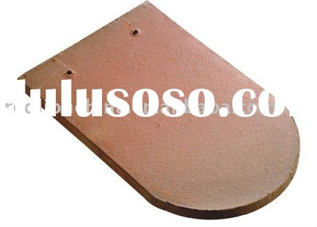 nature mix colour flat clay roof tiles