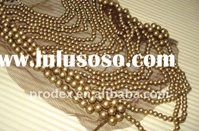 neck designs for ladies suit, pearl beaded neck design